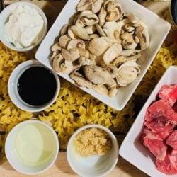 Ninja Foodi Beef, Ninja Foodi Pasta, Ninja Foodi Beef Stroganoff, Ninja Foodi Pasta, Ninja Foodi Dinner, dinner, pasta, beef, Instant Pot Beef Stroganoff, stroganoff, beef, instant pot, the tasty travelers, dinner