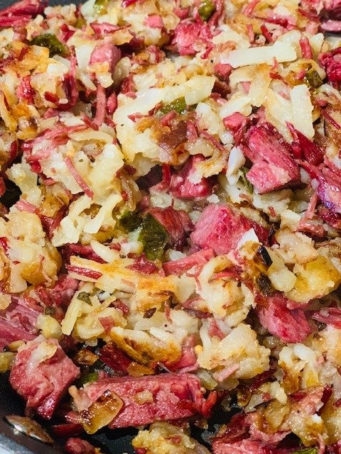 Homemade Corned Beef Hash, Corned Beef, Hash, Breakfast, Corn Beef, The Tasty Travelers