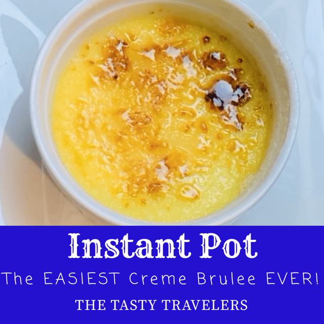 The EASIEST Creme Brûlée Ever!, dessert, creme brûlée, instant pot, pressure cooker, ramekin, custard