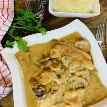 Chicken Marsala and Mashed Potatoes, Instant Pot, Chicken, Mushrooms, Marsala, One Pot, Dinner, Pressure Cooker, Mashed Potatoes