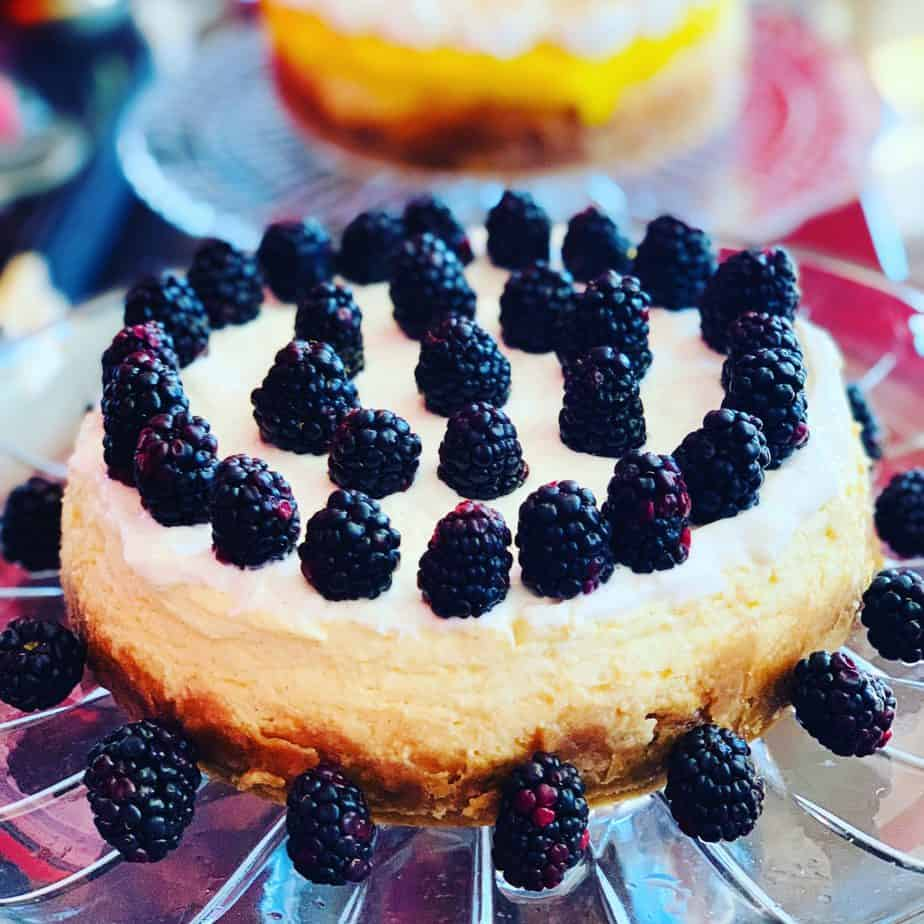 cheesecake, dessert, blackberry, berry, sour cream, instant pot, ninja foodi, cake, sour cream