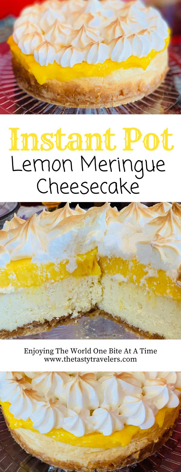 Instant Pot Lemon Meringue Cheesecake