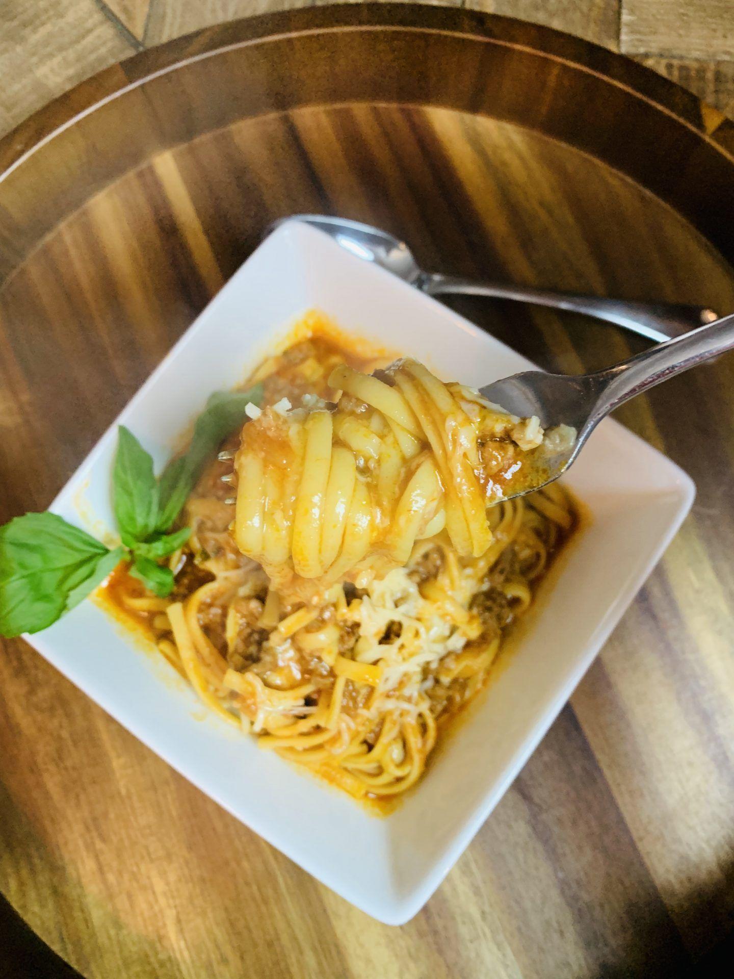 The Best Ninja Foodi Spaghetti - The Tasty Travelers