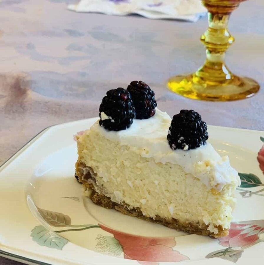 cheesecake, dessert, blackberry, berry, sour cream, instant pot, ninja foodi, cake, sour cream