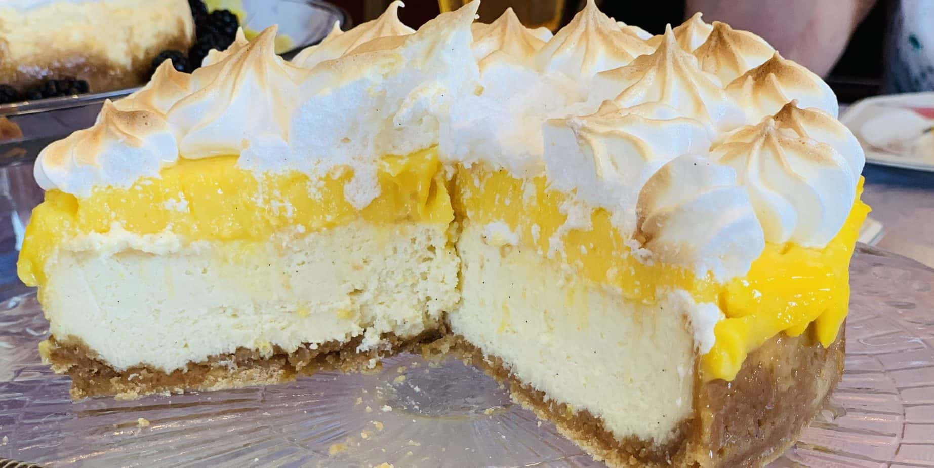lemon meringue cheesecake, dessert, lemon, cheesecake, Ninja Foodi, Ninja Foodi recipe, instant pot, instant pot recipe, meringue, lemon curd, pie