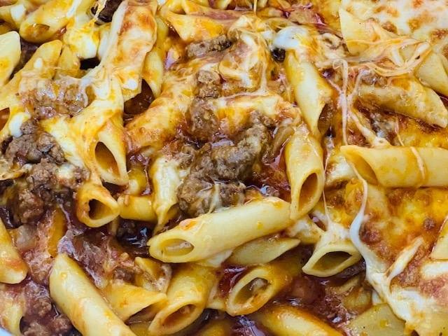 instant pot, instant pot pasta, instant pot mostaccioli, Ninja Foodi Mostaccioli, Ninja Foodi, pasta, Italian, beef, dinner, cheese, ninja, Ninja Foodi recipe