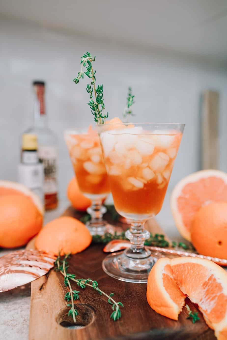 Not Your Father's Old Fashioned, cocktails, drinks, orange, grapefruit, bourbon, bitters, thyme, simple syrup, Father's Day, drinks