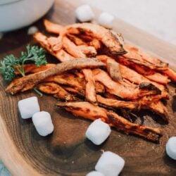 Sweet Potato Fries with Marshmallow Sauce- Ninja Foodi Recipe