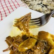 Instant Pot Mississippi pot roast, pot roast, Ninja Foodi pot roast, Ninja Foodi recipe, Ninja Foodi dinner, beef, dinner, instant pot pot roast, instant pot Mississippi pot roast, instant pot dinner, instant pot beef, pepperoncinis,