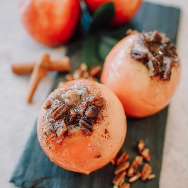apples, baked apples, pecans, dessert, appetizer, instant pot apples, ninja foodi apples, fall, baked apples, instant pot baked apples, ninja foodi baked apples