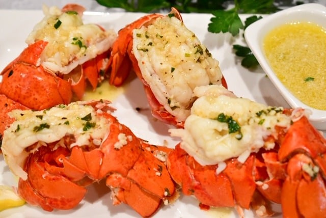 lobster, lobster tail, seafood, butter, compound butter, surf and turf, shellfish, instant pot