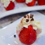 strawberries filled with cannoli cream