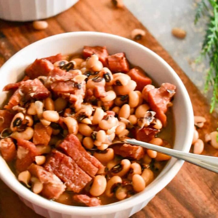 black eyed peas, instant pot, ninja foodi, ham, dinner, side, pork
