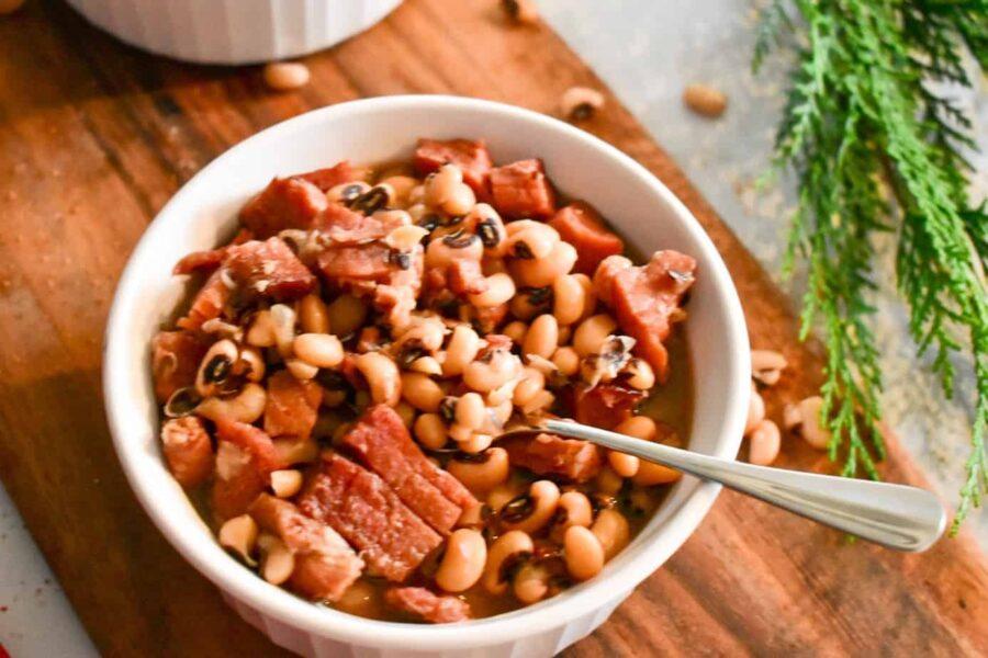 black eyed peas, instant pot, ninja foodi, ham, dinner, side, pork