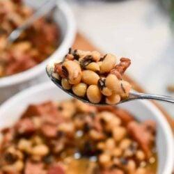black eyed peas, instant pot, ninja foodi, ham