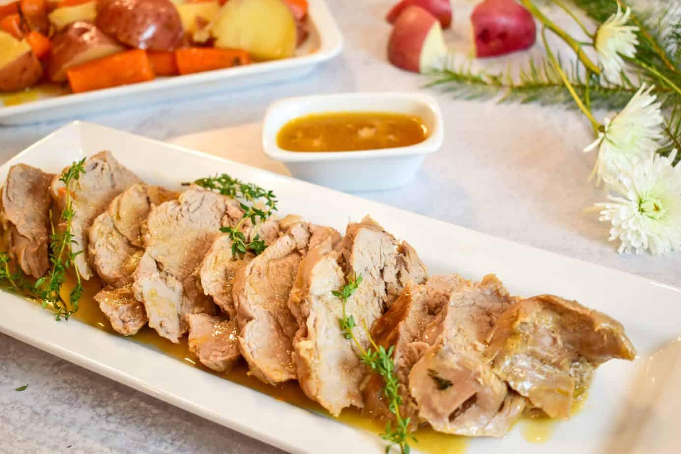 pork tenderloin, pork, ninja foodi pork, instant pot pork, carrots, potatoes