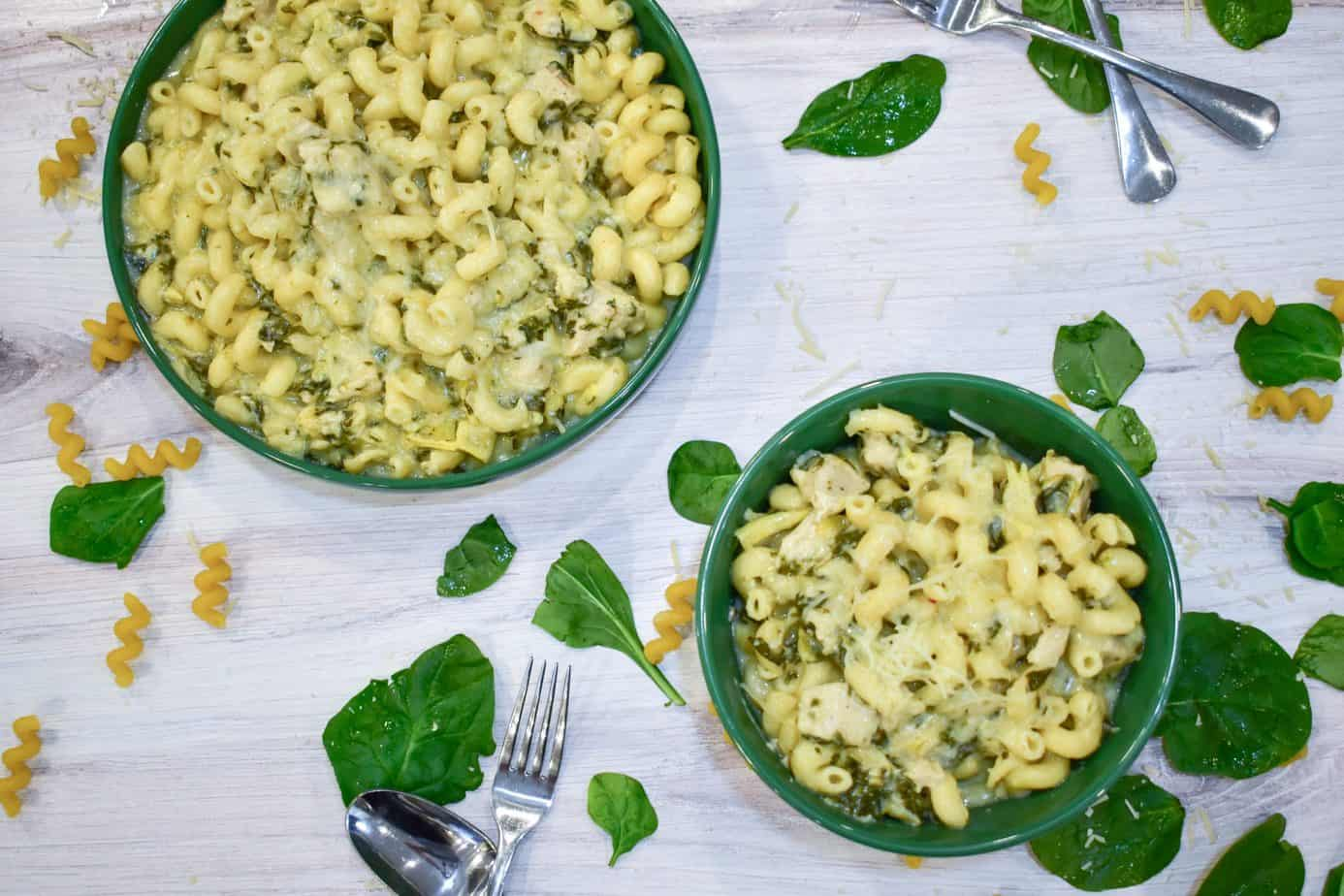 Photo of Instant Pot Chicken, Spinach and Artichoke Pasta