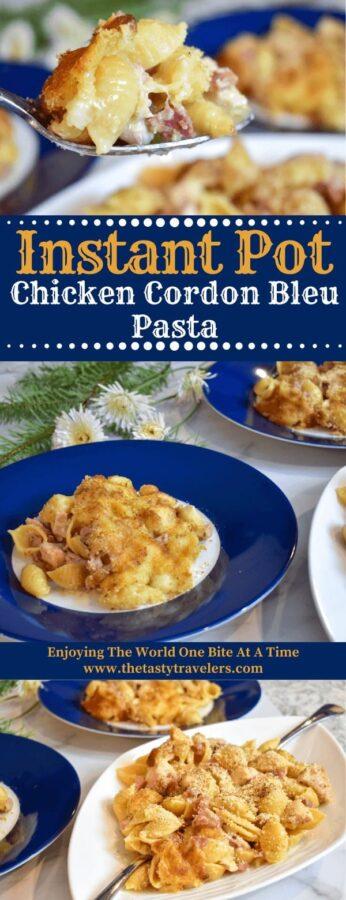 chicken cordon bleu pasta, chicken, chicken cordon blue, ham, pasta, instant pot chicken, instant pot pasta, ninja foodi chicken, ninja foodi pasta, one pot meal, ham