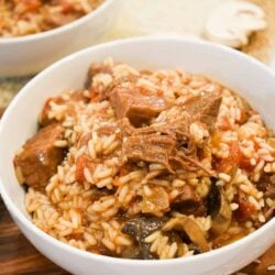 Ninja Foodi Beef Tips with Rice