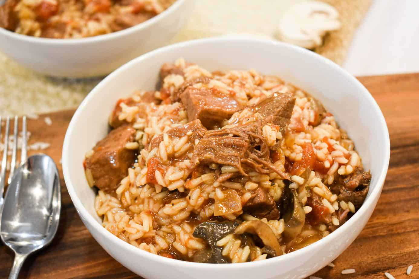 Photo of Ninja Foodi Beef Tips with Rice