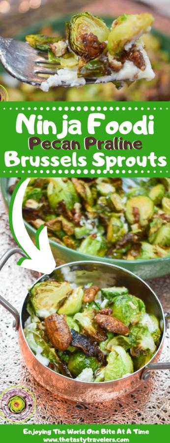 Ninja Foodi Pecan Praline Brussels Sprouts