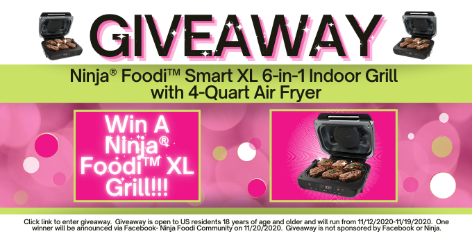 Photo of Win a Ninja® Foodi™ Smart XL 6-IN-1 Indoor Grill with 4-Quart Air Fryer