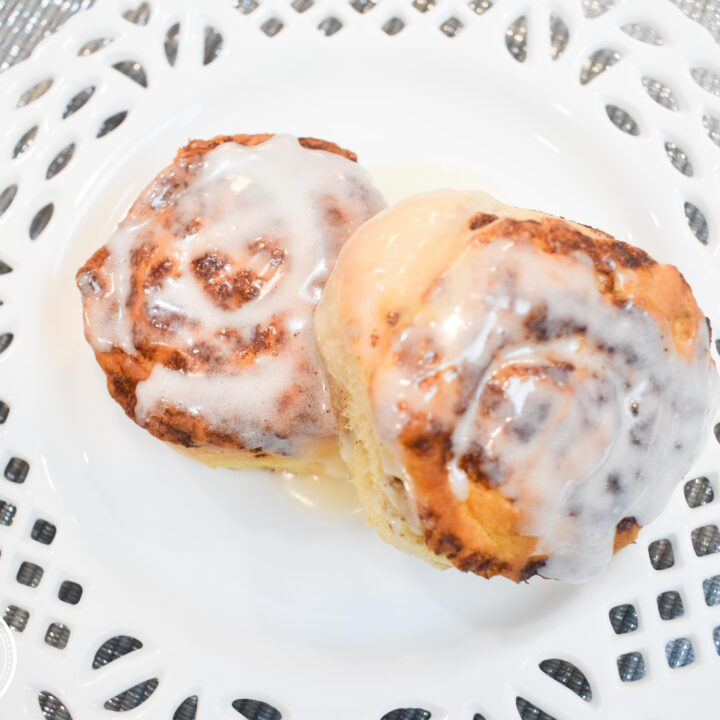 Cinnamon Rolls on plate