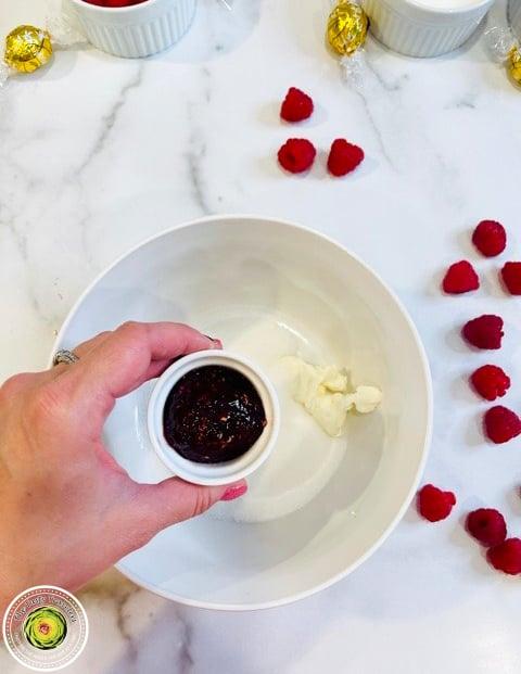 Raspberry White Chocolate Ice Cream