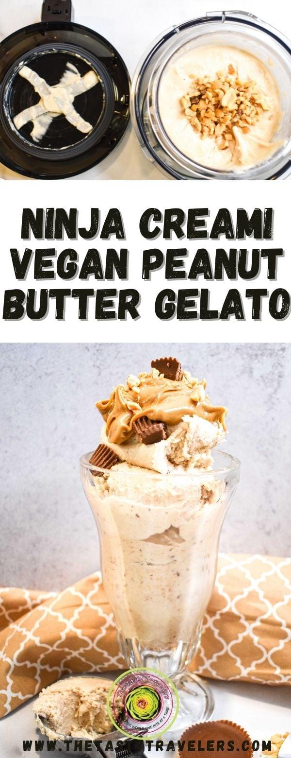 Ninja Creami Vegan Peanut Butter Gelato