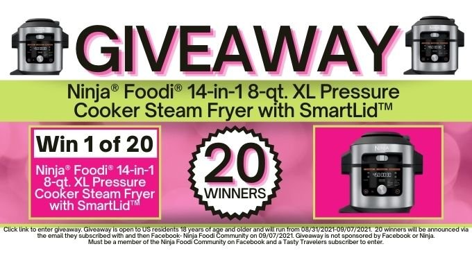 Ninja® Foodi® 14-in-1 8-qt. XL Pressure Cooker Steam Fryer with SmartLid™Giveaway Post (2)