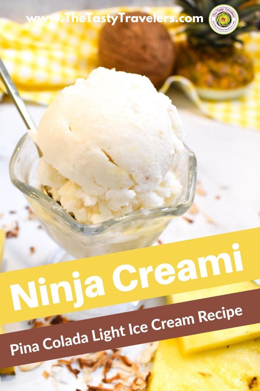 Ninja Creami Pina Colada Ice Cream