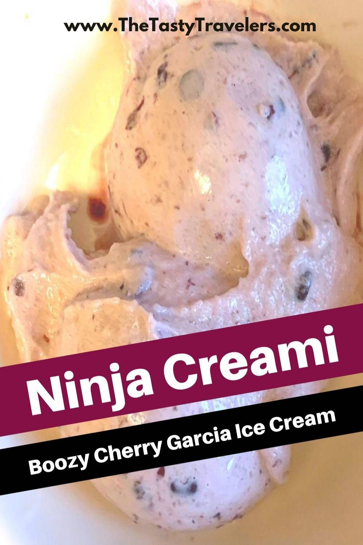 Ninja Creami Boozy Cherry Garcia Ice Cream